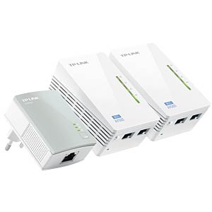 500MBit Powerline WLAN Extender Kit (3Adapter) TP-LINK TL-WPA4220T KIT