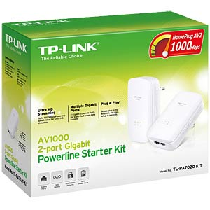 1000-Mbit/s Powerline kit (2x adapters) TP-LINK TL-PA7020 KIT