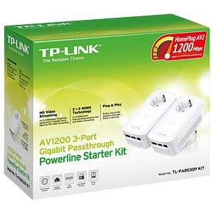 1200 MBit/s Powerline kit — (two pieces) 3x LAN TP-LINK TL-PA8030PKIT