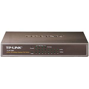 Switch, 8-Port, Fast Ethernet, PoE TP-LINK TL-SF1008P