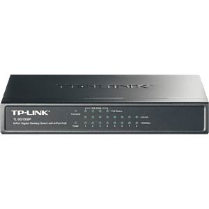 Switch, 8-Port, Gigabit Ethernet, PoE TP-LINK TL-SG1008P