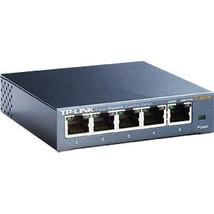 5-port Gigabit desktop switch, metal enclosure TP-LINK TL-SG105