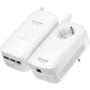 1200 MBit/s Powerline Kit WLAN Ext. - (2 Adap.) TP-LINK TL-WPA8630 KIT