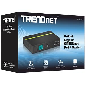 Switch, 8-Port, Gigabit Ethernet, PoE TRENDNET TPE-TG44G
