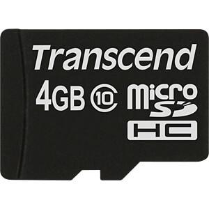 TS4GUSDC10 - MicroSDHC-Speicherkarte 4GB
