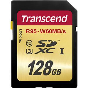 SDXC-Speicherkarte, 128GB Class10 UHS-I U3 Ultimate TRANSCEND TS128GSDU3