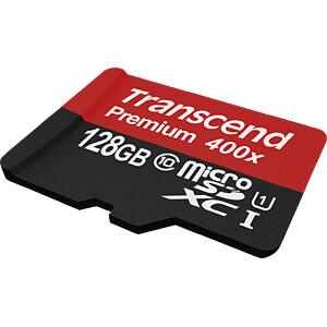 MicroSDXC-Speicherkarte 128GB, Transcend Class 10 UHS-I TRANSCEND TS128GUSDU1