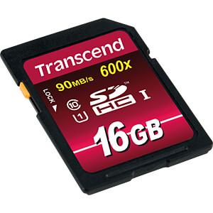 SDHC-Speicherkarte, 16GB Class10 UHS-I 600x Ultimate TRANSCEND TS16GSDHC10U1