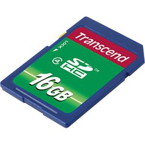 SDHC-Speicherkarte, 16GB Class 4 TRANSCEND TS16GSDHC4