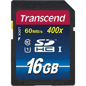 SDHC-Speicherkarte 16GB, Class 10 (Premium) TRANSCEND TS16GSDU1
