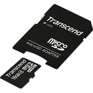 MicroSDHC-Speicherkarte 16GB, Transcend Class 4 TRANSCEND TS16GUSDHC4