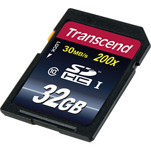 SDHC-Speicherkarte 32GB, Class 10 (Premium) TRANSCEND TS32GSDHC10