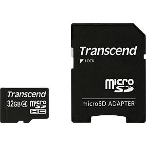 MicroSDHC-geheugenkaart 32GB Transcend Class 4 TRANSCEND TS32GUSDHC4