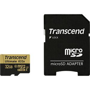 MicroSDHC-Speicherkarte 32GB, Transcend Class 10 UHS-I TRANSCEND TS32GUSDU3