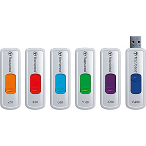 USB-Stick, USB 2.0, 16 GB, JetFlash 530 TRANSCEND TS16GJF530