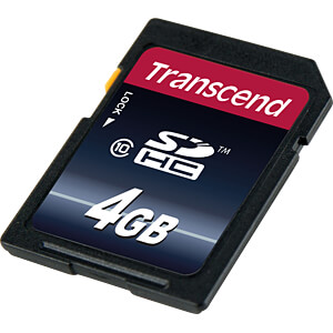 SDHC-geheugenkaart 4GB, Class 10 (premium) TRANSCEND TS4GSDHC10