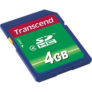 SDHC-Speicherkarte, 4GB Class 4 TRANSCEND TS4GSDHC4