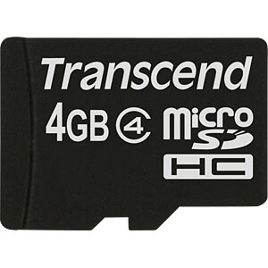 MicroSDHC-geheugenkaart 4GB Transcend Class 4 TRANSCEND TS4GUSDC4