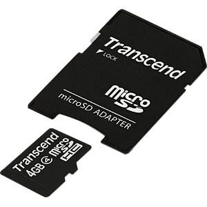 MicroSDHC-geheugenkaart 4GB Transcend Class 4 TRANSCEND TS4GUSDHC4