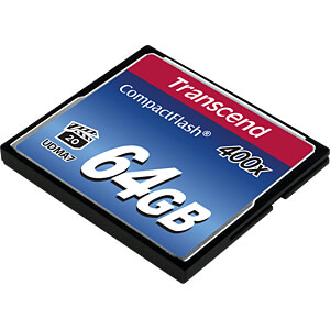 CF-Speicherkarte, 64GB 400x TRANSCEND TS64GCF400