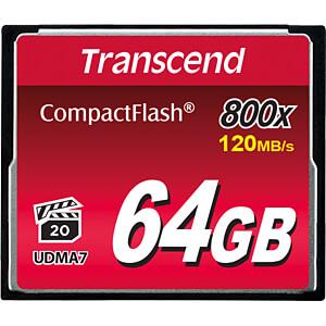 CF-Speicherkarte, 64GB 800x TRANSCEND TS64GCF800