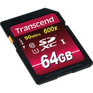SDXC-Speicherkarte, 64GB Class10 UHS-I 600x Ultimate TRANSCEND TS64GSDXC10U1