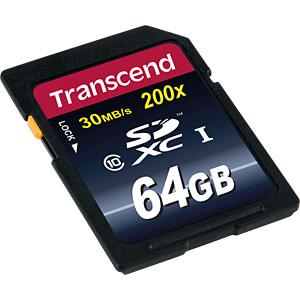SDXC-Speicherkarte 64GB, Class 10 (Premium) TRANSCEND TS64GSDXC10