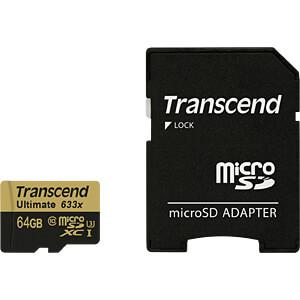 MicroSDXC-Card 64GB, Transcend Class 10 UHS-I TRANSCEND TS64GUSDU3