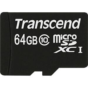 MicroSDXC-geheugenkaart 64GB Transcend Class 10 TRANSCEND TS64GUSDXC10