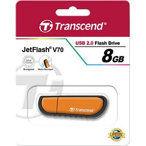 USB-stick, USB 2.0, 8 GB, JetFlash V70 TRANSCEND TS8GJFV70