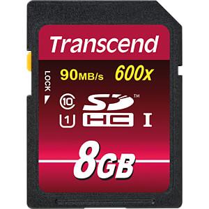 SDHC-Speicherkarte, 8GB Class10 UHS-I 600x Ultimate TRANSCEND TS8GSDHC10U1