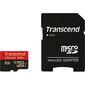 MicroSDHC-Speicherkarte 8GB, Transcend Class 10 UHS-I TRANSCEND TS8GUSDHC10U1