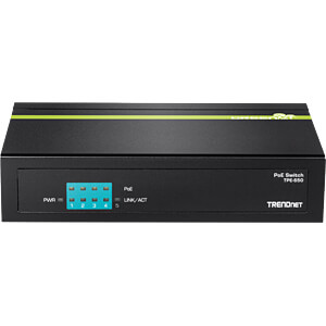 Switch, 5-Port, Gigabit Ethernet, PoE TRENDNET TPE-S50