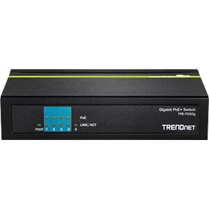Switch, 5-Port, Gigabit Ethernet, PoE TRENDNET TPE-TG50G
