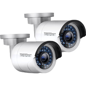 Netzwerk-Videorekorder, Set inkl. 2 Kameras TRENDNET TV-NVR104K