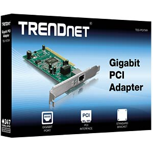 10/100/1000 MBit/s Gigabit PCI Adapter TRENDNET TEG-PCITXR