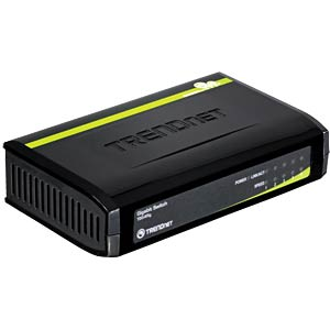 Switch, 5-Port, Gigabit Ethernet TRENDNET TEG-S5G