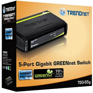 5-Port Gigabit GREENnet Switch TRENDNET TEG-S5G