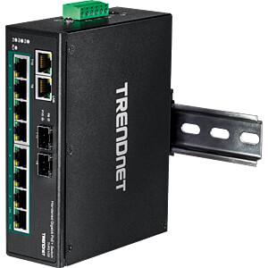 Switch, 10-Port, Gigabit Ethernet, DIN Rail, PoE+ TRENDNET TI-PG102