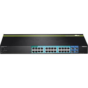 Switch, 28-Port, Gigabit Ethernet, PoE+ TRENDNET TPE-2840WS