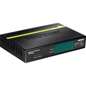 Switch, 8-Port, Gigabit Ethernet, PoE+ TRENDNET TPE-TG82G