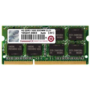 4 GB SO DDR3 1600 CL11 Transcend TRANSCEND TS512MSK64V6N