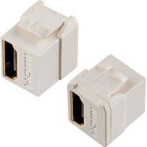 Keystone HDMI F/F, ultrakompakte Bauform, weiß TTL NETWORK 152910