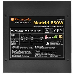 Thermaltake Madrid 850W ATX 2.3 THERMALTAKE W0495RE