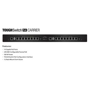 "TOUGHSwitch PoE Carrier 16x Gigabit 19"" UBIQUITI TS-16-CARRIER"