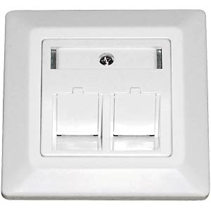 Flush-fitted connection box for 2x Keystone, white DAETWYLER 185867