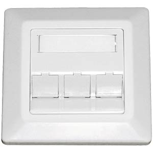 Flush-fitted connection box for 3x Keystone, white DAETWYLER 185869