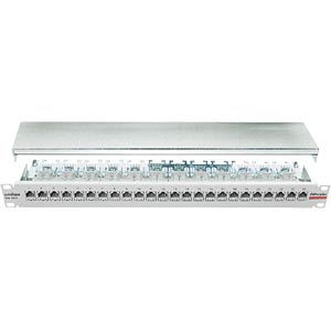 "48cm (19"")-Patchpanel 24/8 Cat.6a-RAL7035 DAETWYLER 417980"