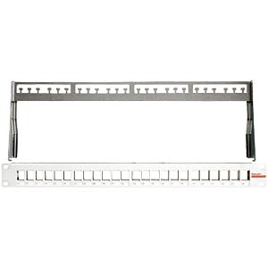 Patch panel KS for 24x Keystone modules, grey DAETWYLER 418020