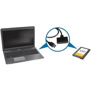 Adapter Kabel USB 3.0 > 2,5 SATA III STARTECH.COM USB3S2SAT3CB